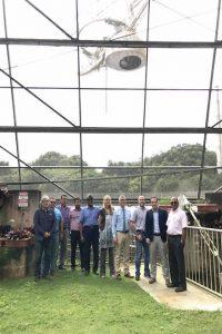 Representantes del RUM junto a científicos del USRA.
